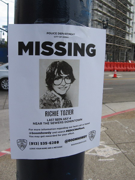 Boom Howdy has posted Missing signs around San Diego.