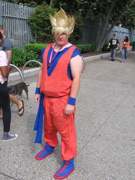 Near Petco Park I saw this cosplay of Goku from Dragonball Z.