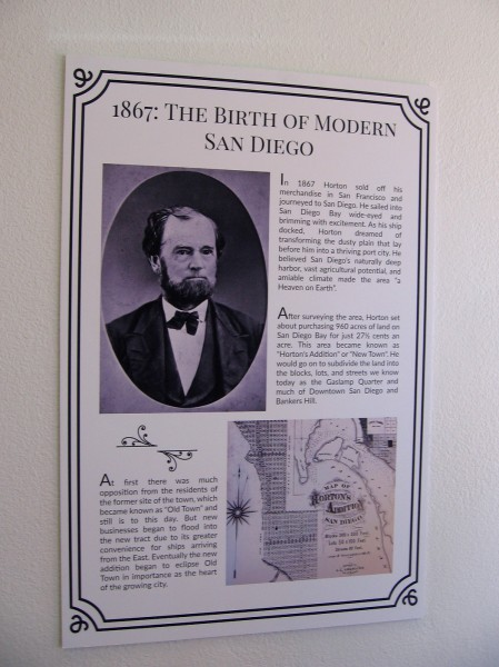 Alonzo Horton is the father of modern San Diego. He journeyed to San Diego in 1867, then purchased the area now known as downtown and called it New Town.