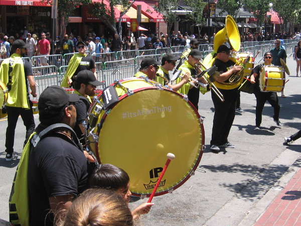 The Syfy band was entertaining the crowd on Fifth Avenue in the Gaslamp for SDCC 2017.