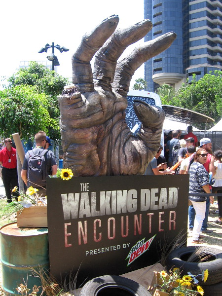 The Walking Dead Encounter! I wish I'd seen that sooner. Maybe some caffeine from a Mountain Dew will help me escape...