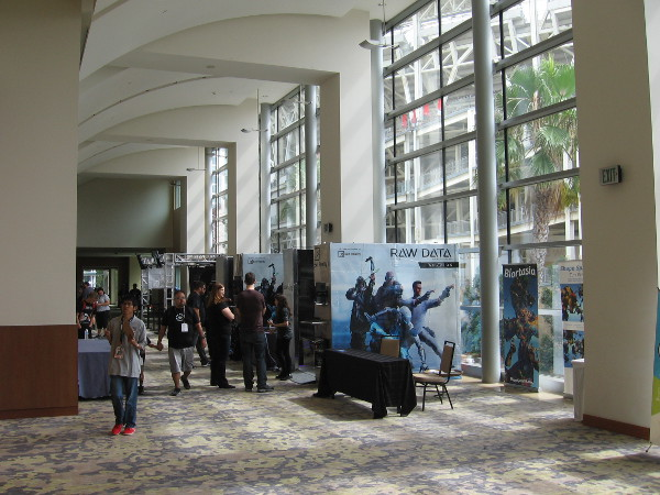 The Futurism and Tech Pavilion at 2017 San Diego Comic-Con occupies a large area of one floor inside the Omni Hotel.