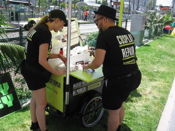 Syfy had a handy Cosplay Repair cart along MLK Promenade!