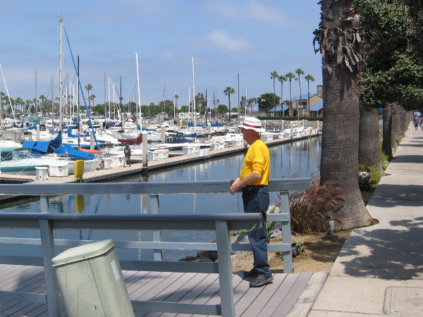 Looking out at the many boats in Chula Vista Harbor.