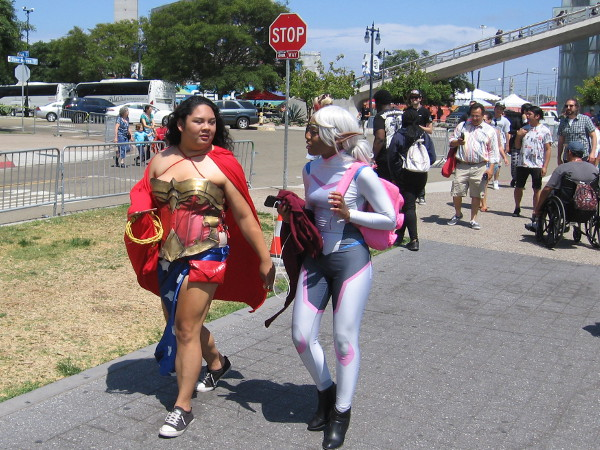 Another Wonder Woman and cosplay friend.