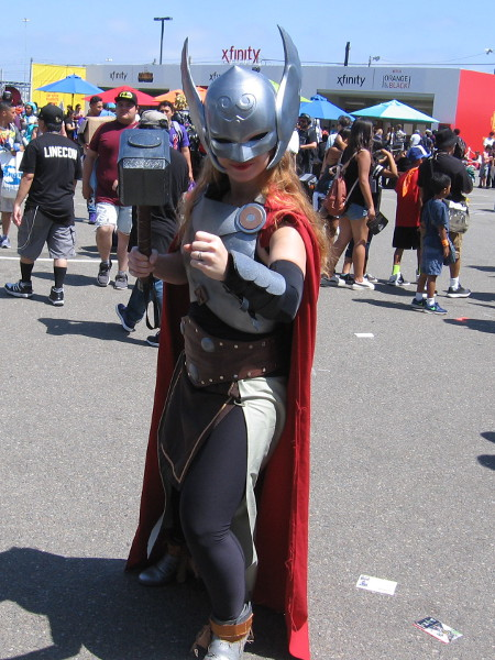 It's Lady Thor in the Petco Interactive Zone!