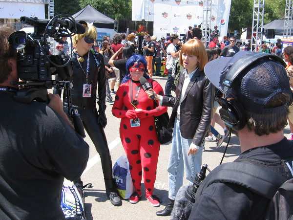 Cosplayers at Comic-Con are interviewed by Comedy Central.