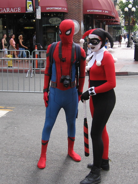 Two super popular characters together--Spidey and Harley!