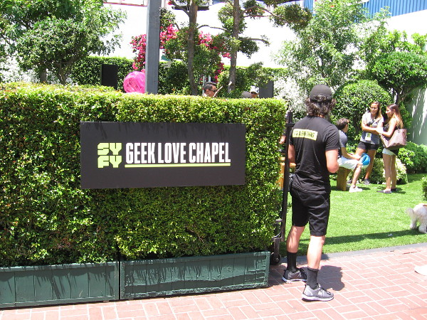 Actual weddings will take place at Syfy's Geek Love Chapel!