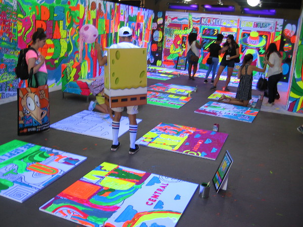 SpongeBob SquarePants checks out the dazzling Broad City coloring book room!