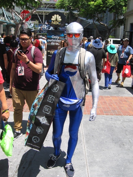 Here comes Pepsiman! He must be searching for his adversary Cokeman.