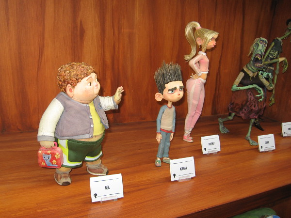 Models of characters in the stop motion animated film ParaNorman displayed inside the Laika Experience San Diego for Comic-Con.