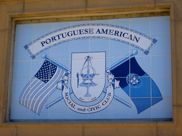 Design on tiles indicates Portuguese American Social and Civic Club.