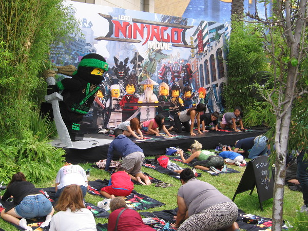 A morning session of Ninjago yoga (ninjoga) at Comic-Con!