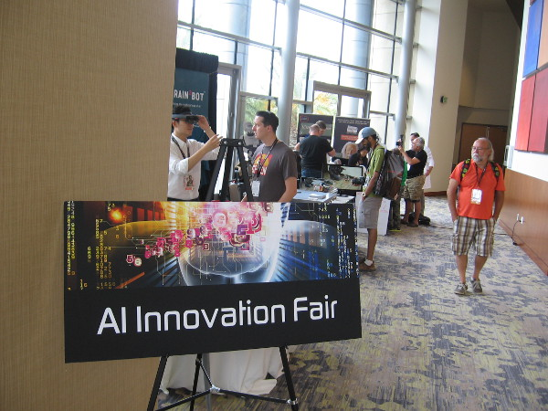 The AI Innovation Fair includes artificial intelligence, robotics and other related technology.