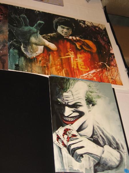 Bruce Lee and Joker.