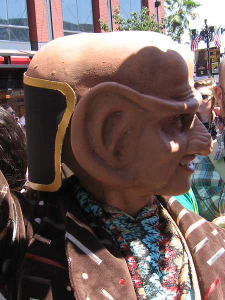 Profile of a Ferengi.
