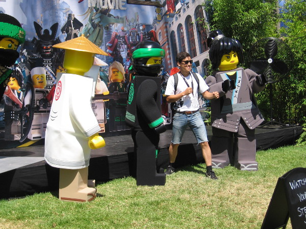 Lego Ninjago characters welcome a Comic-Con fan!
