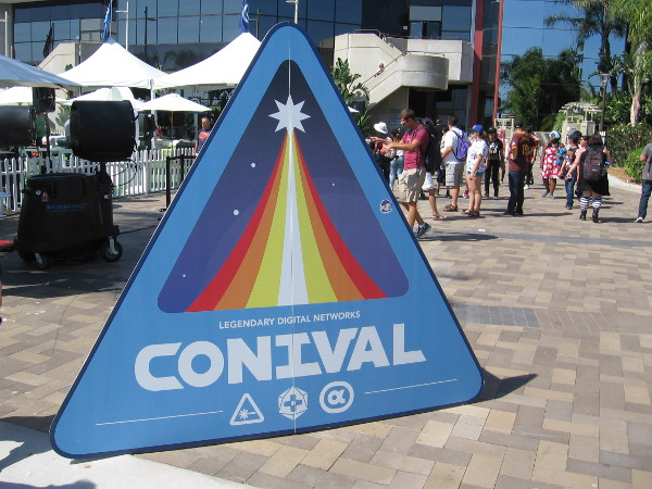 Conival was being held on the terrace near the Marriott Marina.