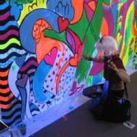 Broad City fans paint big coloring book at Comic-Con!