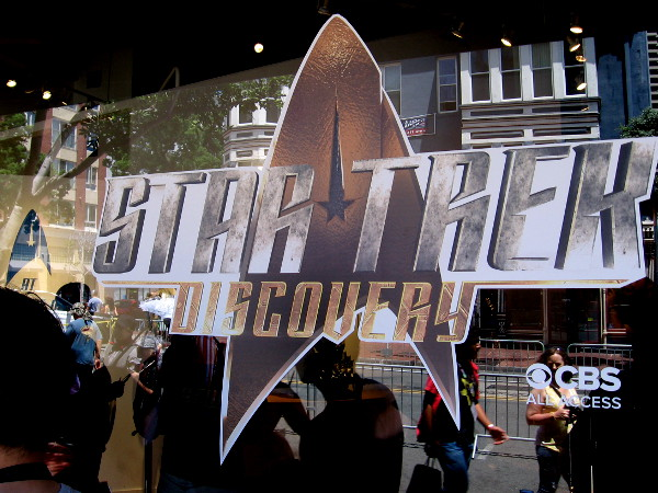 I'm almost ready to enter the Star Trek Discovery exhibit in San Diego's Gaslamp!