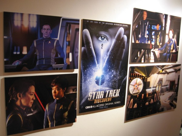 The Comic-Con exhibit contains Star Trek Discovery promotional posters and photos from production.