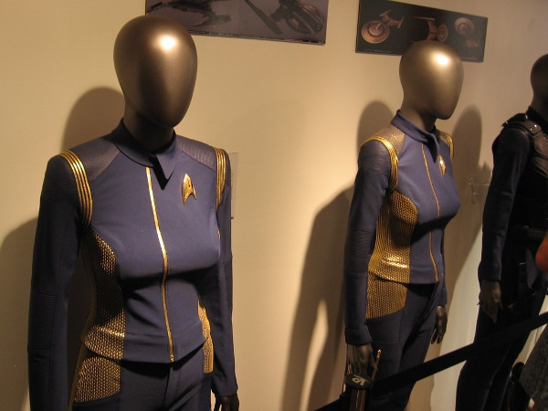 Starfleet Duty Uniforms used in the filming of Star Trek Discovery.