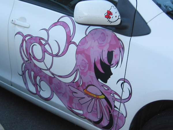 Art that I spied on a parked car in downtown San Diego.
