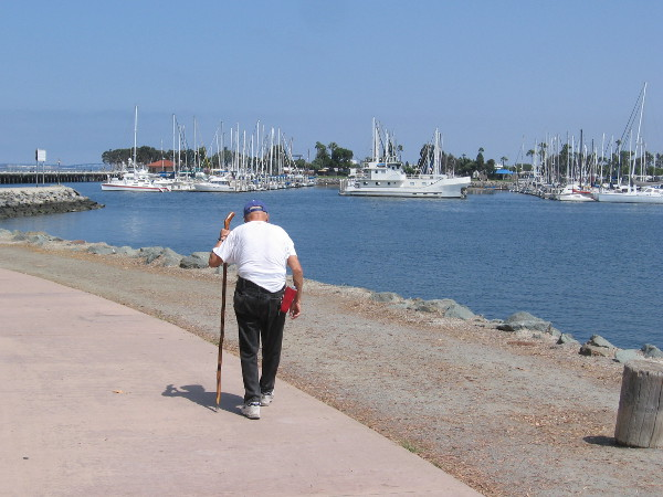 A quiet morning walk in San Diego's South Bay.