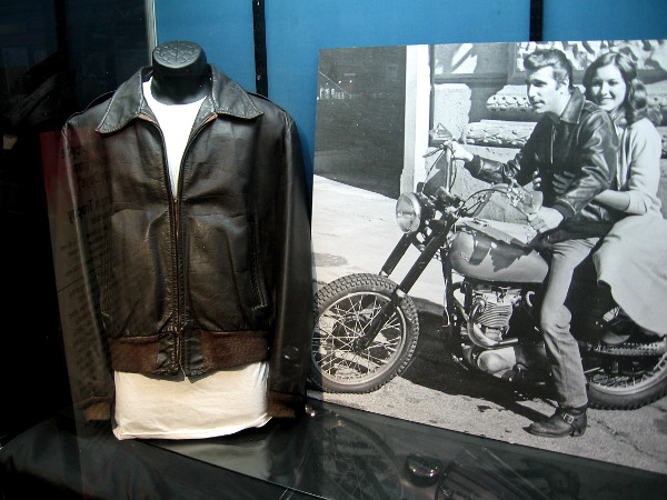 A leather jacket worn by Henry Winkler, who played cultural icon Arthur Fonzarelli--The Fonz--on the very popular American television show Happy Days.