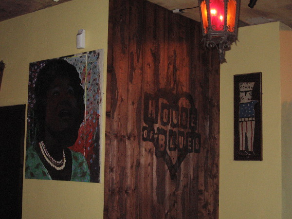 Artwork near west entrance of San Diego's cool House of Blues.