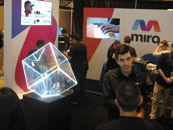 The Mira Prism uses your iPhone to produce holograms in your field of view!
