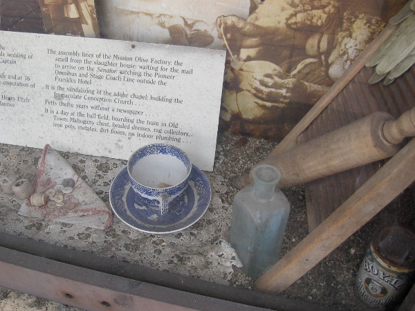 A few household objects in one display case. Perhaps life those many years ago wasn't so very different...