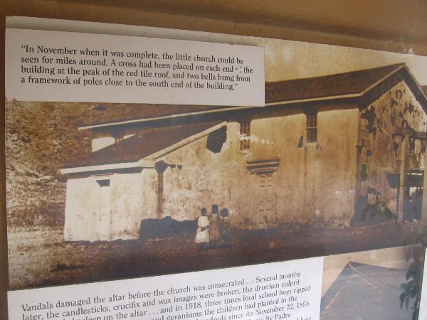 Photo of the Old Adobe Chapel. In November when it was complete, the little church could be seen for miles around...