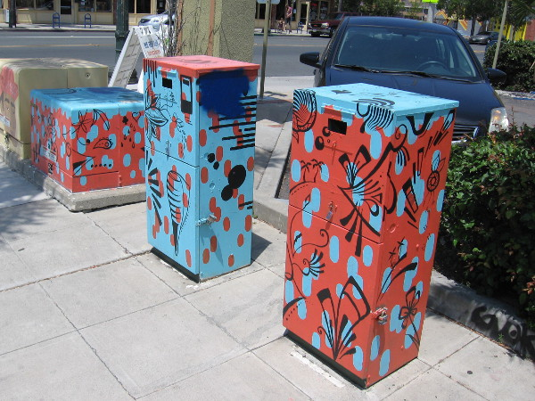 A series of fun utility boxes.