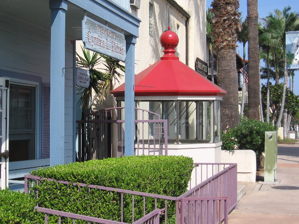 The lantern room that housed a light that guided ships into San Diego Bay now can be seen on Congress Street in Old Town!
