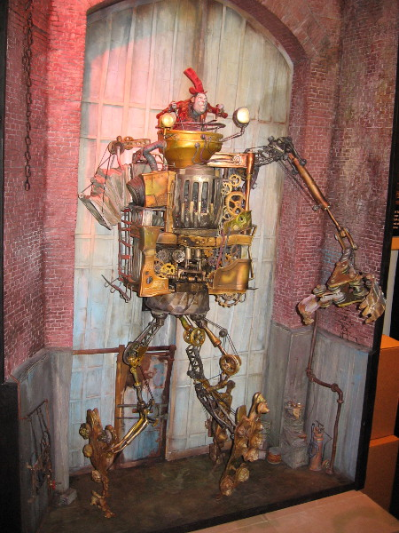 Archibald Snatcher in his giant robot in the movie The Boxtrolls. Amazing detail!