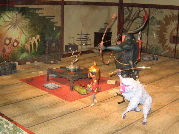 A miniature set from Kubo and the Two Strings.