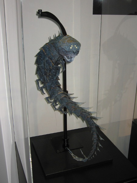 The model of The Moon Beast from Kubo and the Two Strings was made using 3-D printing.
