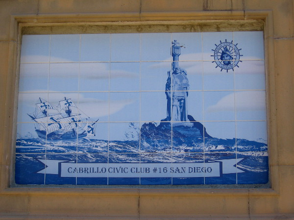 Image of Juan Rodriguez Cabrillo's galleon San Salvador and his statue at Cabrillo National Monument, a gift from the government of Portugal. Exploring on behalf of Spain, Cabrillo was Portuguese.