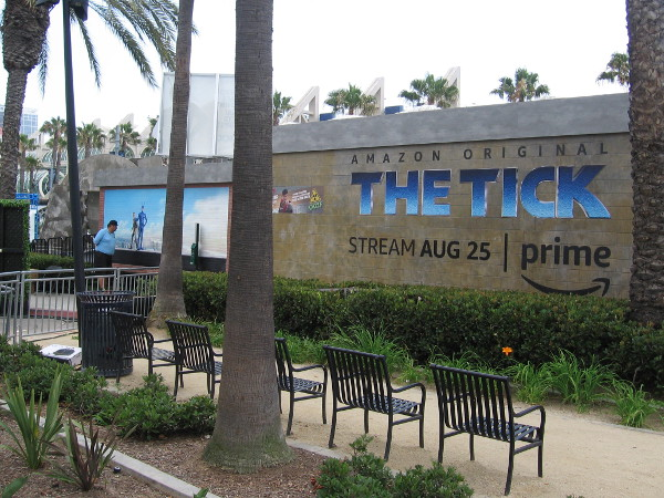 A corner of San Diego is being taken over. Amazon Original The Tick streams on Prime starting August 25.