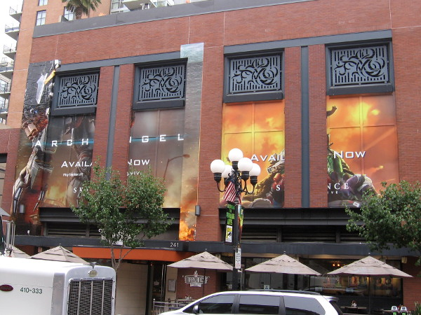 It looks like a cool Archangel wrap is now going up on the Hard Rock Hotel. Skydance Interactive's first virtual reality offering should be popular at Comic-Con.