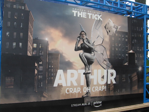 Arthur seems to be in a bad situation at The Tick Takeover site at Comic-Con.