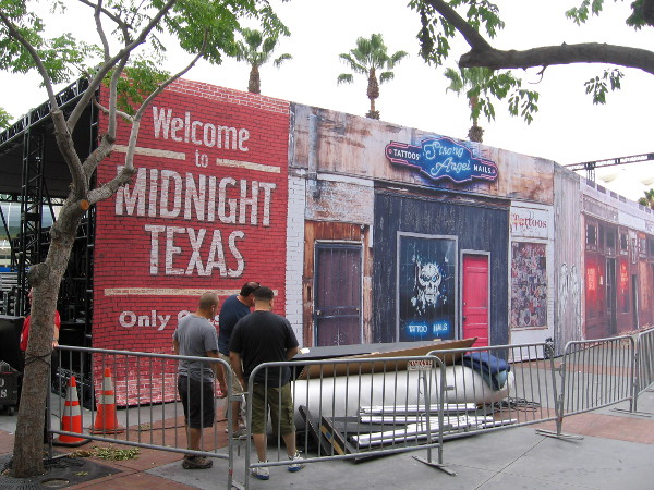 The area near the Tin Fish has a Midnight, Texas theme this year.
