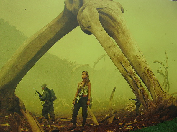 A closeup photo of one Skull Island graphic.