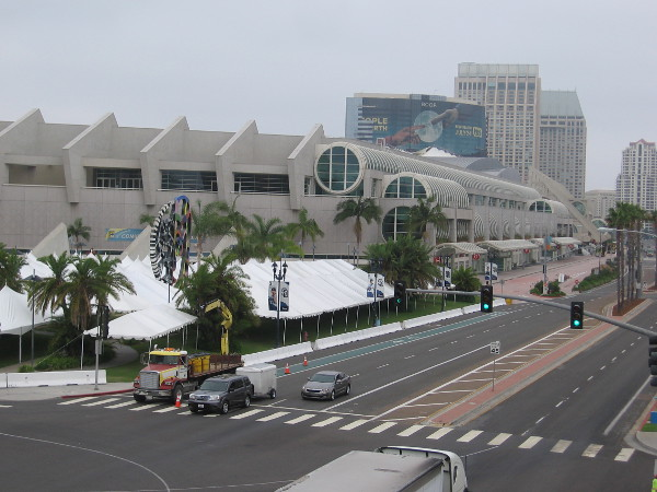 Shady canopies are up at the San Diego Convention Center. Looks to me like 2017 Comic-Con is almost here!