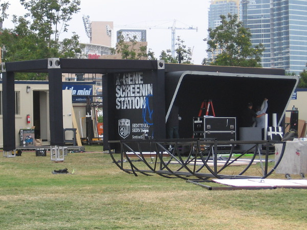 I see there will be an X-Gene Screening Station in Fox Television's outdoor area.