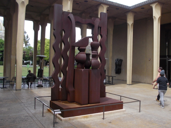 This sculpture is titled Night Presence II, 1976, by artist Louise Nevelson.