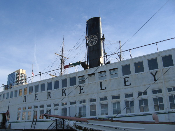 The handsome steam ferryboat Berkeley now greets visitors on San Diego Bay.