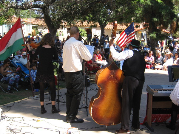 Musicians entertain Balboa Park visitors at the House of Hungary's festive lawn program.